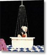 Vanity Fair Cover Featuring A Woman In A Bathtub Metal Print by A. H. Fish