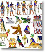 Various Themes Of Ancient Egypt Metal Print
