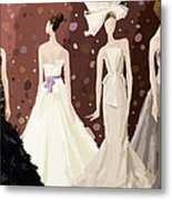 Vera Wang Bridal Dresses Fashion Illustration Art Print Metal Print by Beverly Brown