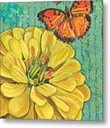 Verdigris Floral 2 Metal Print
