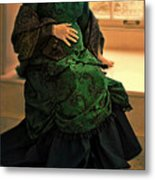 Victorian Lady Expecting A Baby Metal Print by Jill Battaglia