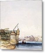 View At Basle, 1842 Metal Print by John Harper