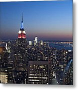 View From The Top Of The Rock Metal Print by David Yack