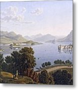 View Of Lake Maggiore And The Borromean Metal Print