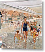 View Of The First Class Swimming Pool Metal Print