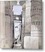 View Through The Hall Of Columns Metal Print by David Roberts
