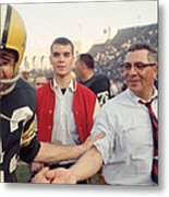 Vince Lombardi Shaking Hands Metal Print by Retro Images Archive