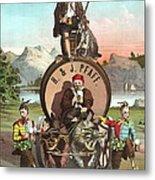Vintage Celebrity Endorsement 1870 Metal Print by Padre Art