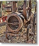 Vintage Steam Tractor Metal Print by Douglas Barnard
