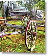 Vintage Wagon On Blue Ridge Parkway I Metal Print by Dan Carmichael