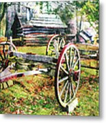 Vintage Wagon On Blue Ridge Parkway II Metal Print by Dan Carmichael
