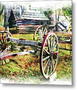 Vintage Wagon On Blue Ridge Parkway IIi Metal Print by Dan Carmichael