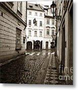 Vintage Walk In Prague Metal Print by John Rizzuto
