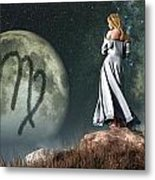 Virgo Zodiac Symbol Metal Print by Daniel Eskridge