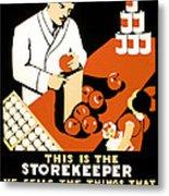 W P A  Food Hygiene Poster C. 1937 Metal Print by Daniel Hagerman