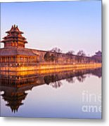 Wall And Moat Forbidden City Beijing Metal Print by Colin and Linda McKie