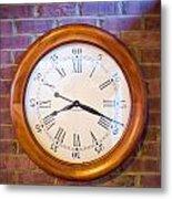 Wall Clock 1 Metal Print by Douglas Barnett