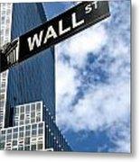 Wall Street Street Sign New York City Metal Print