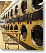Washing Machines At Laundromat Metal Print by Amy Cicconi