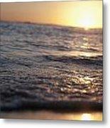 Water At Sunset Metal Print