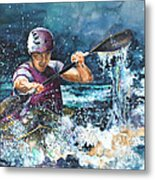 Water Fight Metal Print