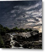 Waterfall At Sunrise Metal Print by Bob Orsillo