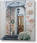 Welcome Christmas Metal Print by Patsy Sharpe