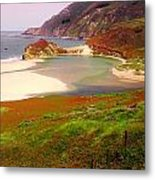 West Coast Fields Metal Print by Sharon Costa