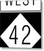 West Nc 42 Metal Print