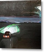 When The Night Start To Walk Listen With Music Of The Description Box Metal Print