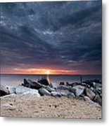 Where There Is Smoke There Is Fire Metal Print by Edward Kreis