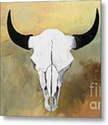 White Buffalo Skull Metal Print by GCannon