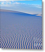 White Sand Patterns New Mexico Metal Print by Bob Christopher