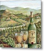 White Wine Lovers Metal Print by Marilyn Dunlap