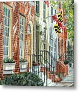 William Street Summer Metal Print by John Schuller