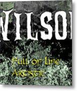 Wilson - Full Of Life Artistic Metal Print by Christopher Gaston