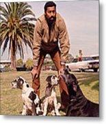 Wilt Chamberlain With Dogs Metal Print