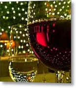 Wine And Lights Metal Print by Micah May