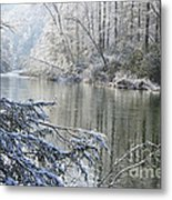 Winter Along Williams River Metal Print by Thomas R Fletcher