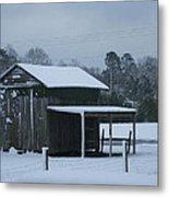 Winter Barn Metal Print by Nelson Watkins