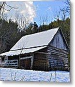 Winter Barn Metal Print by Susan Leggett