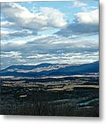 Winter Shenandoah River View Metal Print by Lara Ellis