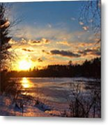 Winter Sundown Metal Print