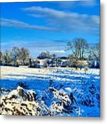 Winters View Metal Print by Dave Woodbridge