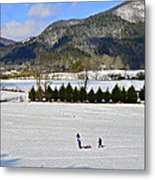 Wolffork Valley Winter Metal Print
