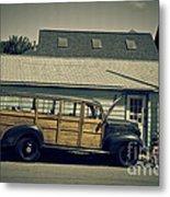 Woody Bus Metal Print