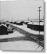 World War II, Winter Storm, Manzanar Metal Print