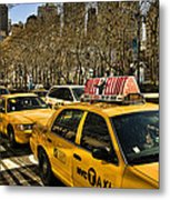 Yellow Cabs Metal Print by Joanna Madloch