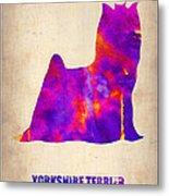 Yorkshire Terrier Poster Metal Print by Naxart Studio