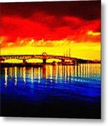 Yorktown Bridge Sunset Metal Print